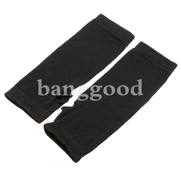 Lady Trendy Fingerless Long Knit Gloves Soft Winter Heater Gift