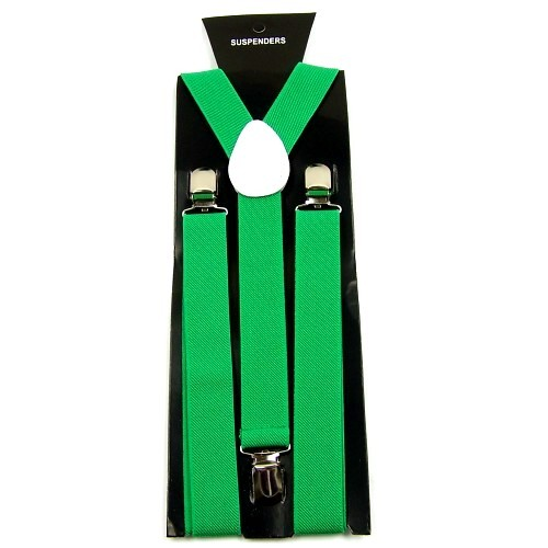Mens Adjustable Y-shape Clip-on Unisex Suspenders Braces
