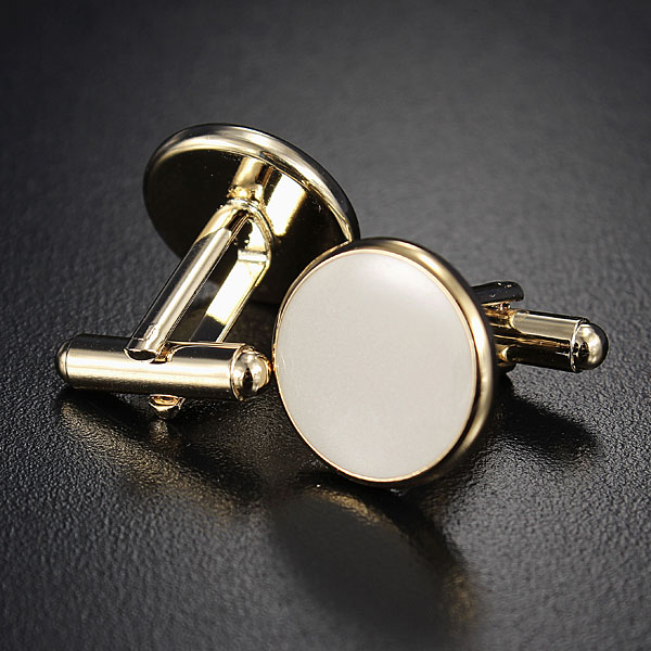 Cufflinks Shirt Studs Set Men Elegant Black White Tuxedo Formal Suit