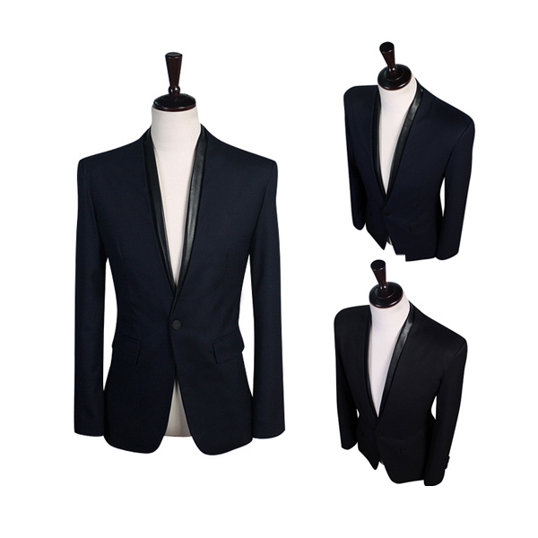 Mens Stylish Casual Slim Fit One Botton Suits