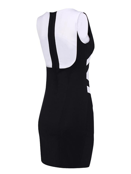 Black And White hit The Color Package Hip Slim Was Thin Dress