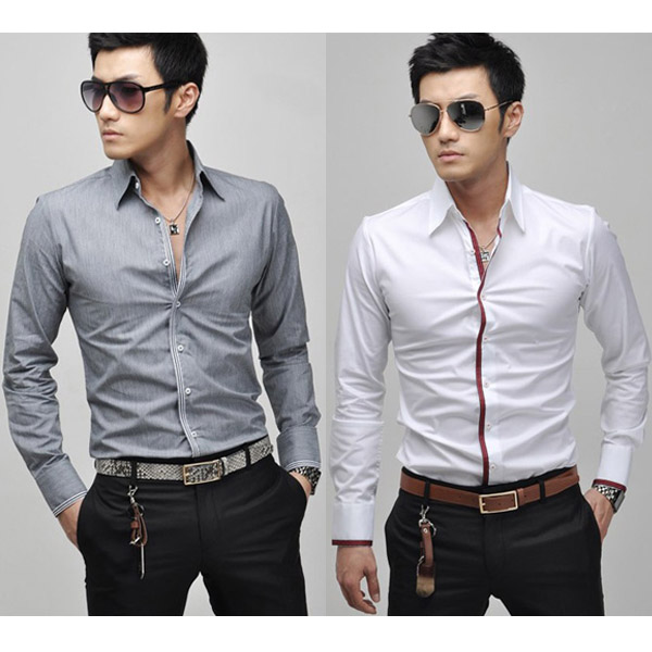 New Mens Stylish Luxury Formal Casual Slim Fit Dress Shirt