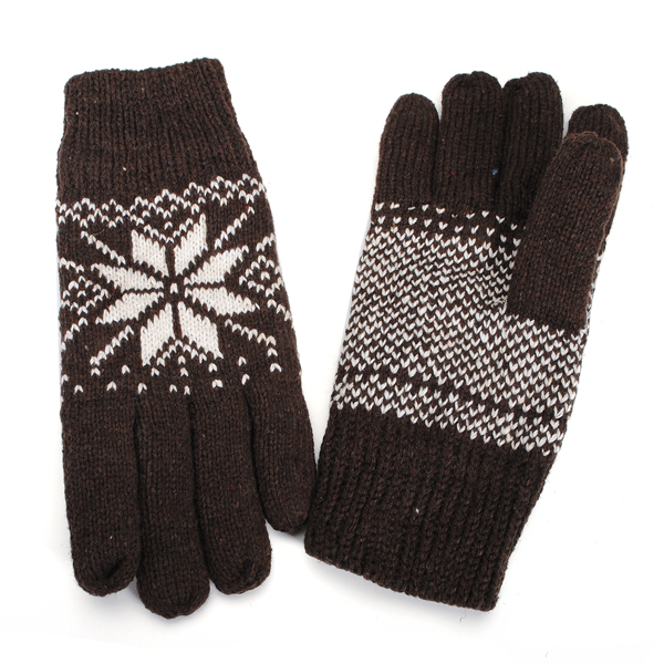 Warm Mens Winter Cashmere Gloves Within A Thickened Style