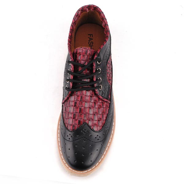 British Style Classic Croc Pattern Casual Mens Elegant Shoes