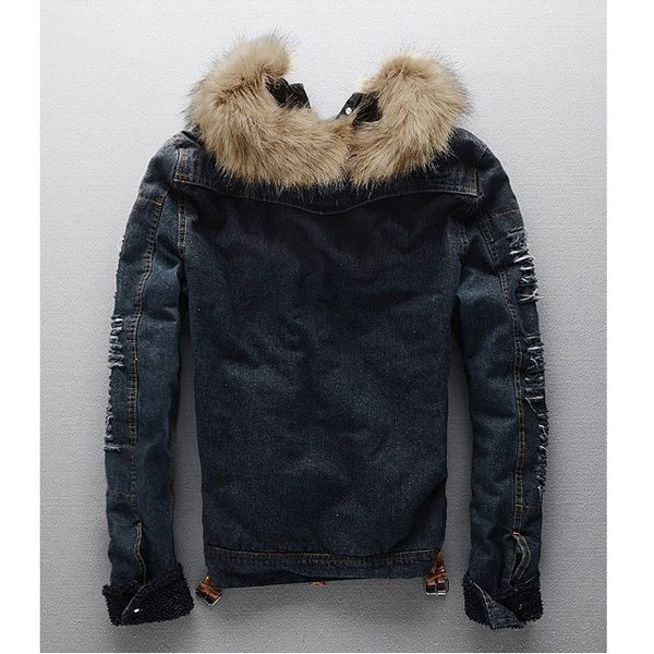 Mens Winter Warm Denim Coats Jacket Outwear Overcoat