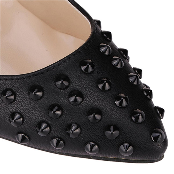 Shallow Mouth Thin High Heel Pointed Toe Rivet Women Shoes