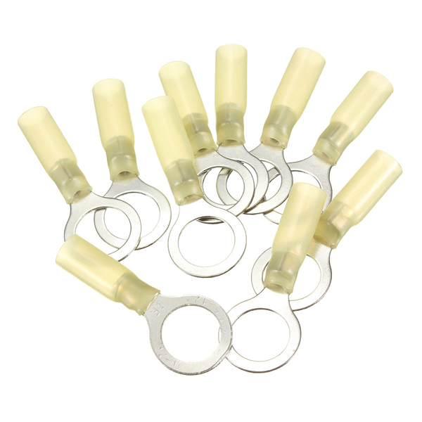 10PCS 13mm Yellow Terminals Insulated Ring Connector 4.0-6.0mm² 12-10AWG M13