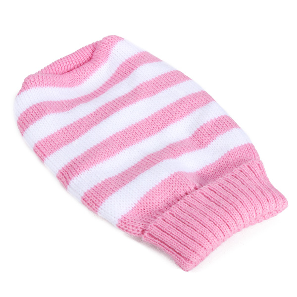 Stripe Pet Dog Knitted Breathable Sweater Outwear Apparel