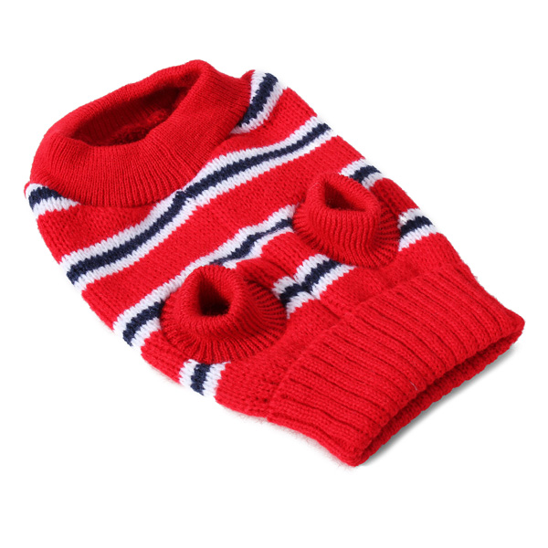 Fashion Striped Pet Dog Knitted Breathable Sweater Outwear Apparel