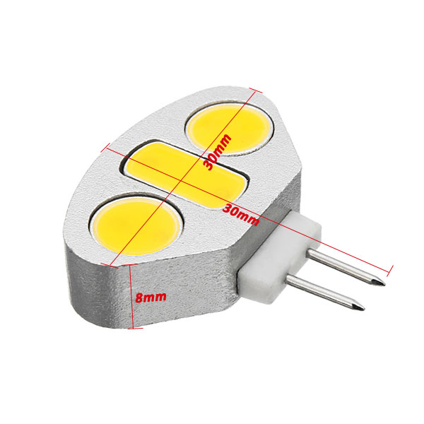 G4 4.5W White/Warm White 3 COB LED Light Lamp Bulb DC 12V
