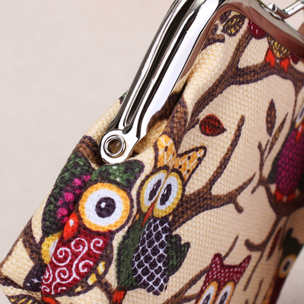 Ladies Lovely Cartoon Owl Buckle Purse Women Animal Changes Wallets