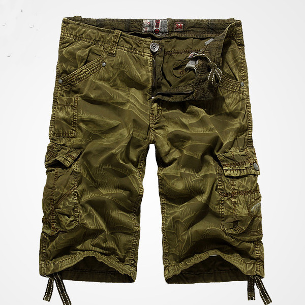 Mens Casual Loose Outdoor Camo Military Large Cargo Short Pants