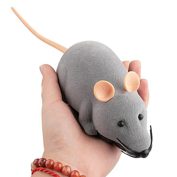 Scary RC Simulation Plush Mouse Toy with Remote Controller