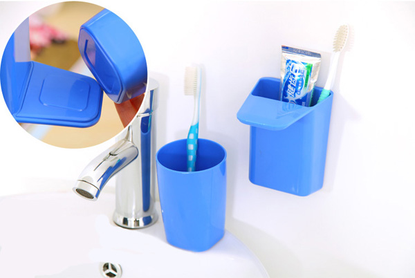 Magnetic Toothbrush Holder Gargle Cup Set Toothpaste Tooth Glass
