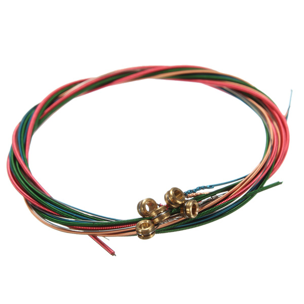 6 colors rainbow strings set for acoustic guitar accessories stable