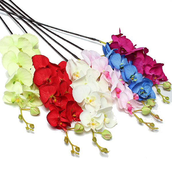1pcs Artificial Silk Butterfly Orchid Flowers Wedding Home Decorations