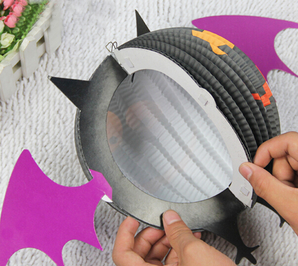 Funny LED Halloween Bat Lanterns Paper Lamp Home Garden Decorations
