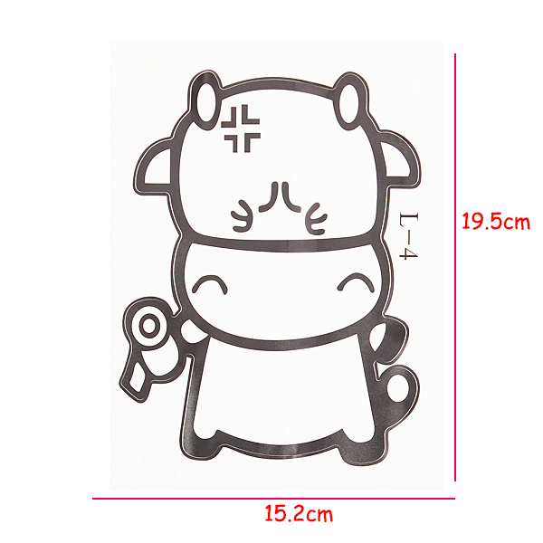 PVC Cute Vinyl Calf Cow Sticker Bathroom Toilet Wall Decor