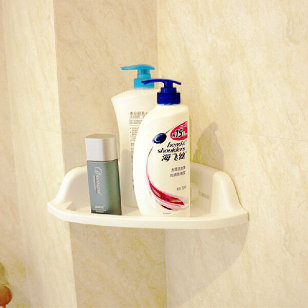 Suction Cup Multi-functions Corner Drain Shelf Bathroom Organizer Rack Cream Holder Storage