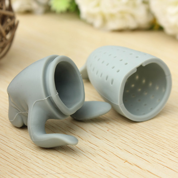 Silicone Sea Lion Loose Tea Strainer Leaf Infuser Diffuser Filter