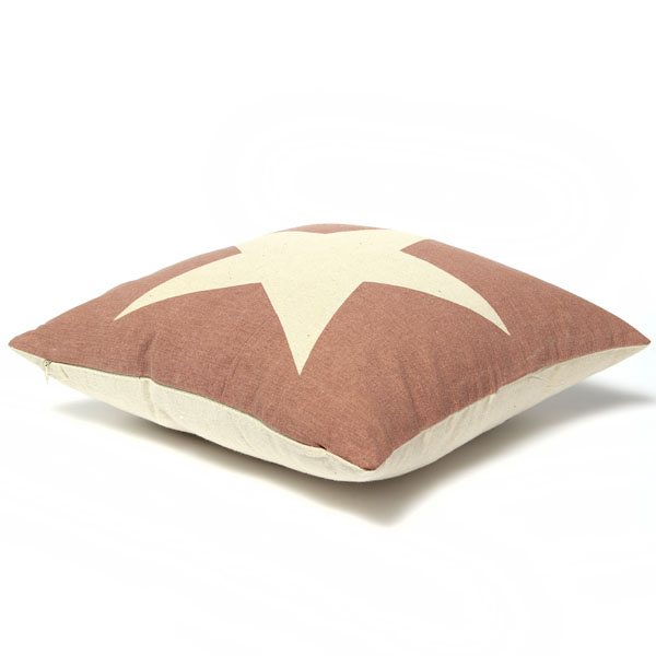 Linen Star Throw Pillow Case Car Cushion Cover Sofa Decorative
