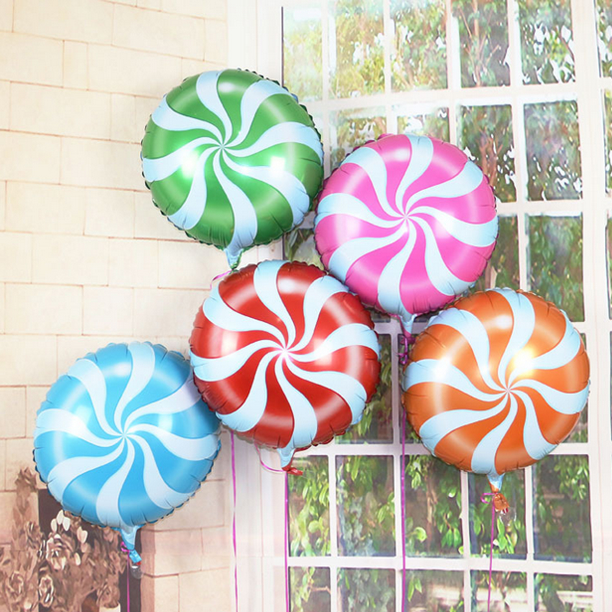 18 Inch Lollipops Candy swirl Birthday Party Decoration balloons