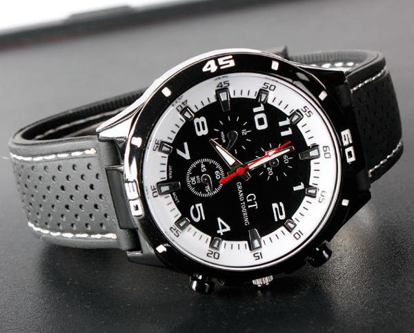 Купить GT 54 GRAND TOUCHING кварцевые аналоговые спортивные часы с силиконовой лентой