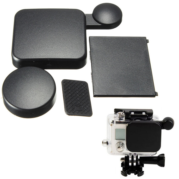 Camera Lens Cap And Battery Door Replacement For GoPro HD Hero 4