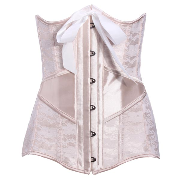 Sexy Shapewear Gothic Lace Bustier Steel Boned Slim Hourglass Corset