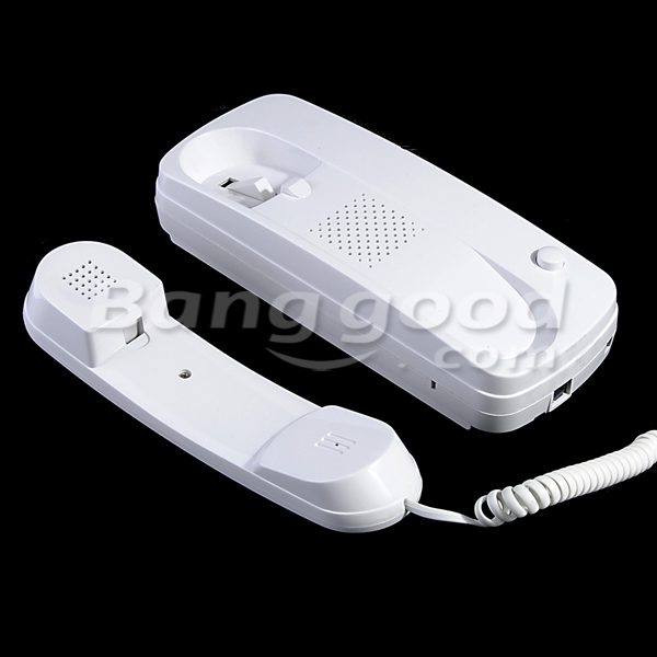 2pcs Home/Office Wired Intercom Telephone System with Wall Mount