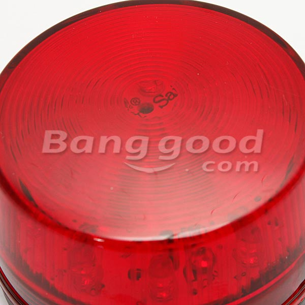 12V Security Alarm Strobe Signal Warning Lamp Blue Red Flashing Light