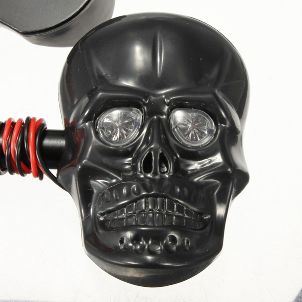 Motorcycle Skeleton Head Skull Turn Signal Light Indicator 12V 0.5W