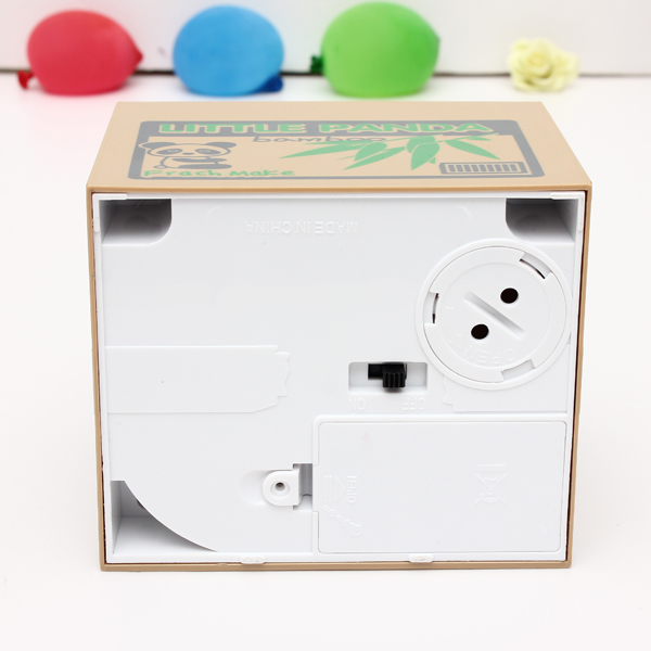 Lovely Stealing Coins Panda Cent Penny Box Money Case Piggy Bank