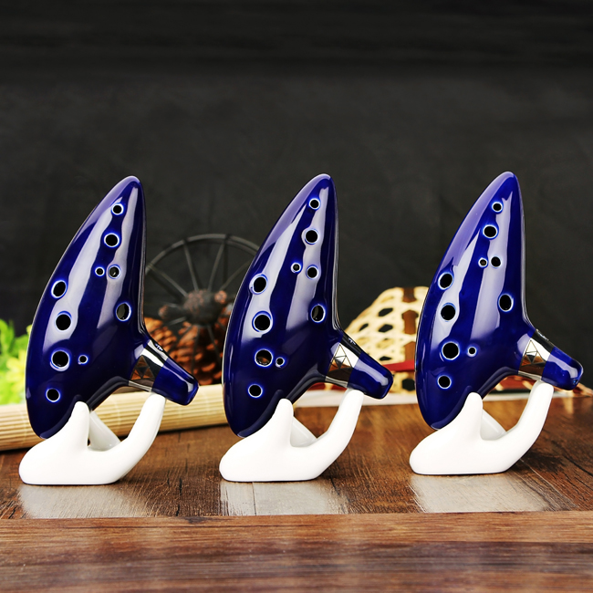 12 Hole Ocarina Ceramic Alto C Tone Legend of Zelda Ocarina Color Box