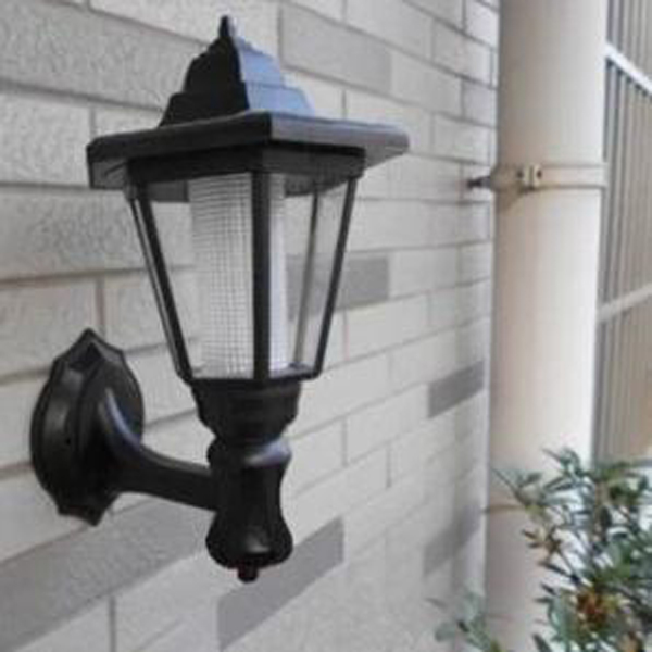 Solar Powered Outdoor LED Lamp Garden Pathway Wall Landscape Light