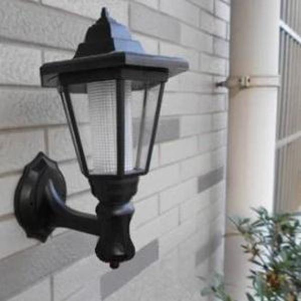 Solar Powered Outdoor LED Lamp Garden Pathway Wall Landscape Light