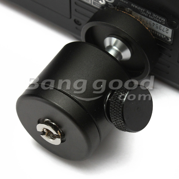 360 Swivel Mini Ball Head 1/4 Inch Mount For DSLR Tripod Ballhead