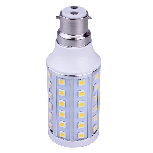 B22 10W Warm White/White 60 SMD 5050 220-240V LED Corn Light Bulb
