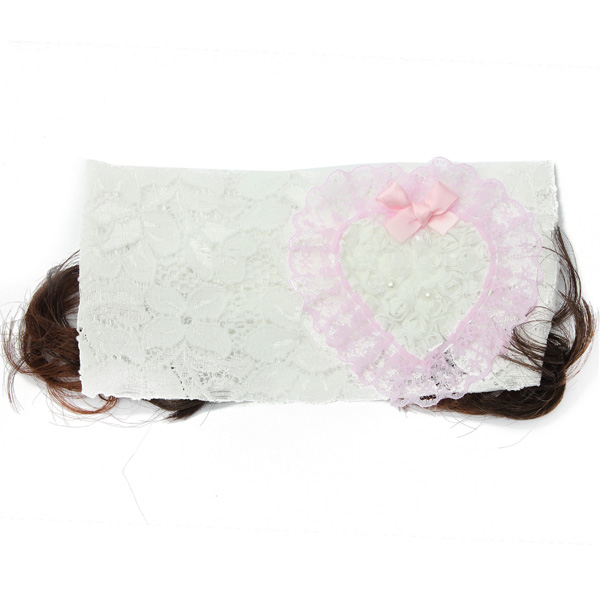 Baby Toddler Wig Lace Bow Feather Headbrands Hair Accessories