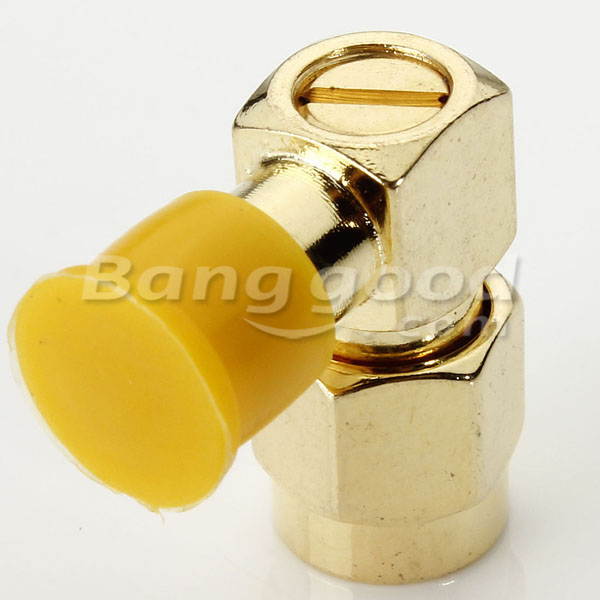 RP-SMA Male to Female Right Angle RF Connector Adapter