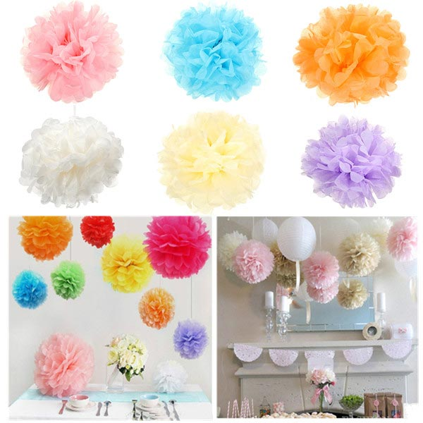 Wedding Party Festival Decoration Tissue Paper Pom Poms Ball Flower