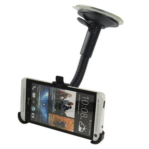 Suction Cup Car Holder For HTC One M7 Smartphone Black