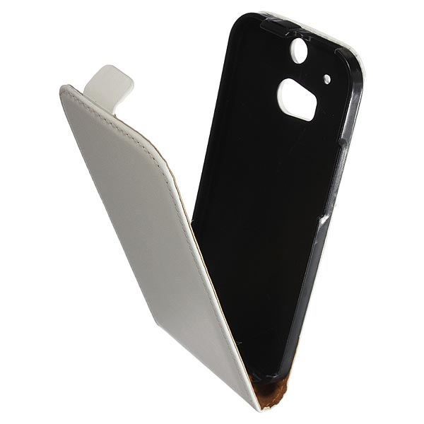 PU Leather Pouch Belt Holster Flip Case For HTC ONE M8 Mobile Phone