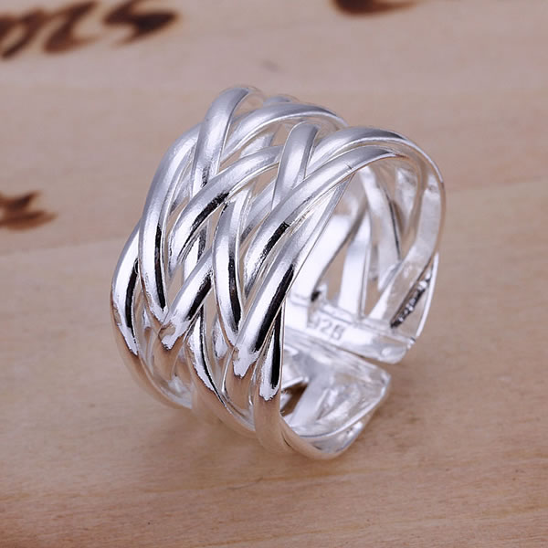 Web Weave Ring Web Weave Ring Crossed Net Opening Ring 925 Silver ...