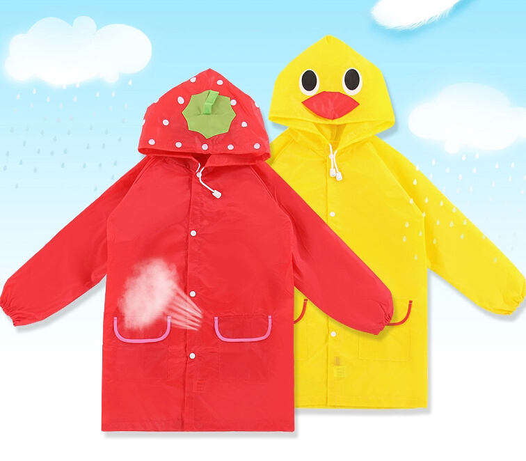 Children's Raincoat Rainwear/Rain suit,Kids Waterproof Animal Raincoat Duck Raincoat
