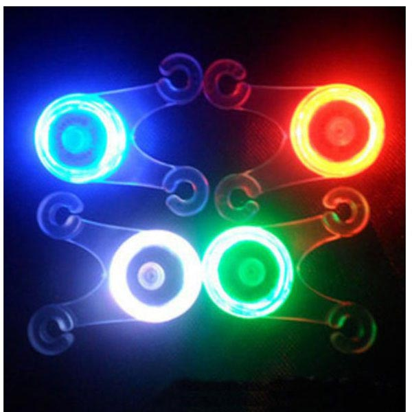 Bike Bicycle Cushion Soft Silicone Spoke Light LED Taillight 4 Colors