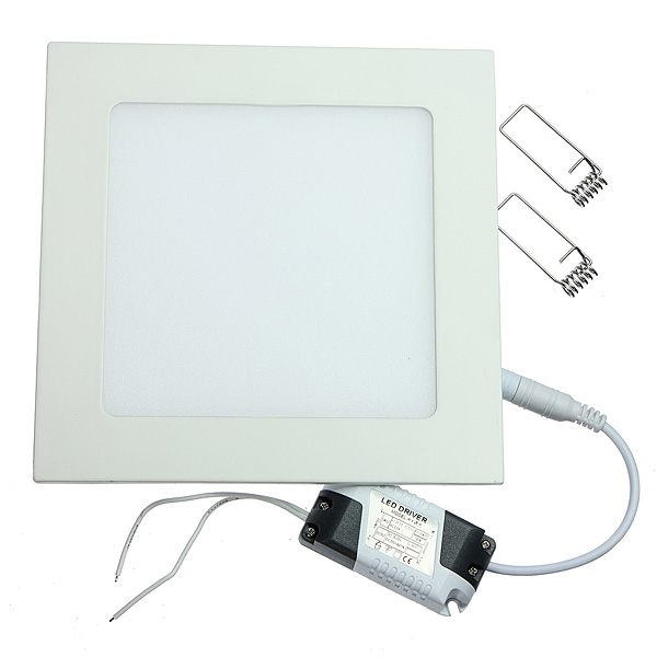 Dimmable 12W Square Ultra Thin Ceiling Energy-Saving LED Panel Light