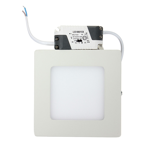 9W Square LED Panel Wall Ceiling Down Lights Mount Lamp AC 85-265V