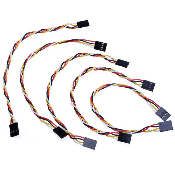 5pcs 4 pin 20cm 2.54mm jumper cable dupont wire for arduino female to female