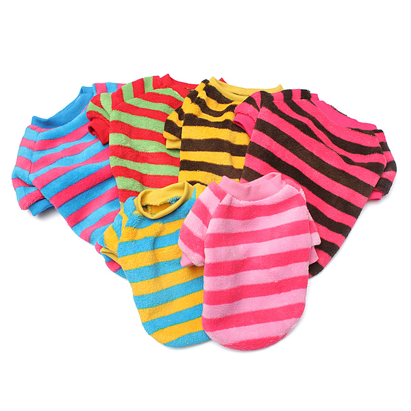 Adorable Colorful Stripes Pet Dog Colorful T-Shirts